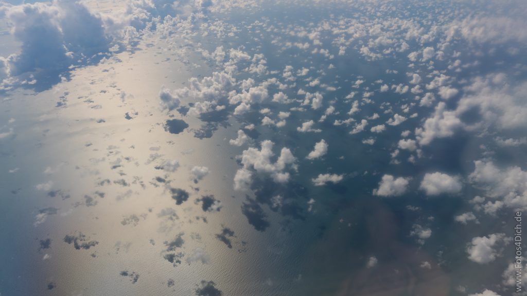 fly over the atlantic ocean
